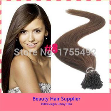 """100S 18"""" 20"""" 22"""" 100% Brazilian Remy Human Keratin Fusion Natural Hair Extensions Prebond I-Tip Hair Keratin Glue Free Shipping(China (Mainland))"""
