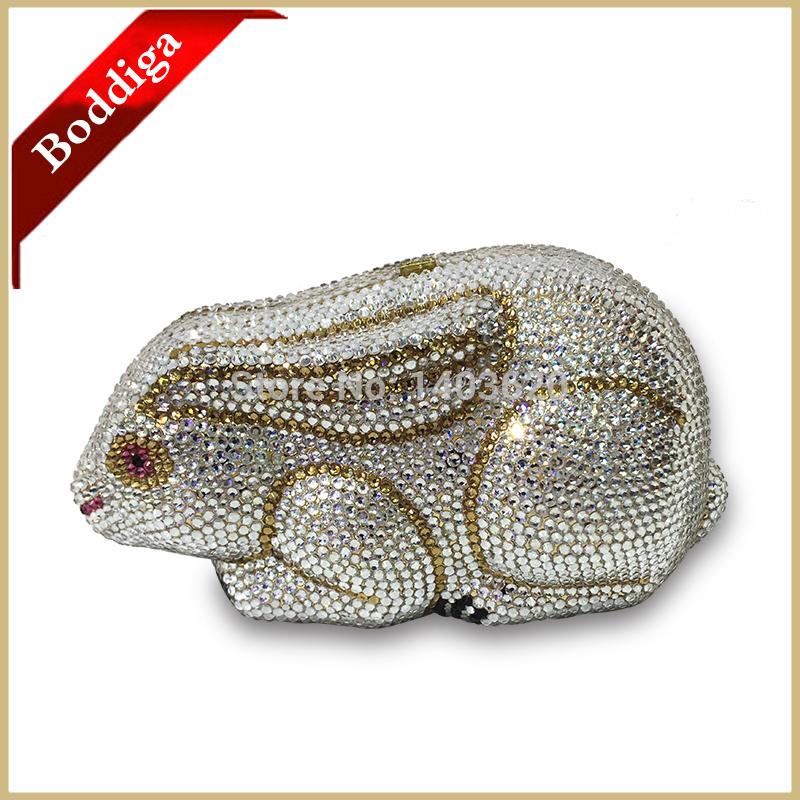 New Hot Sale White Rhinestone Crystal Women Clutch Purse Lady Hard Shell Metal and Diamond Evening Bag Clutch bag Free Shipping(China (Mainland))