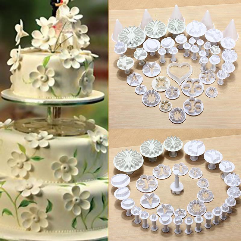 33pcs/set Sugar craft Cake Decorating Fondant Plunger Cutter Modelling Tool Cake Mold Free Shipping(China (Mainland))