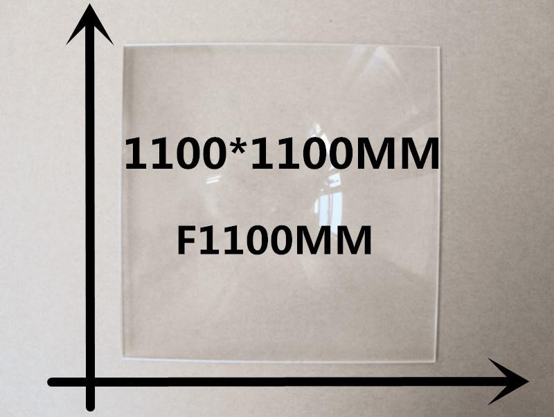1pcs big size 1100*1100mm focal length 1100mm fresnel lens Solar concentrator lens 2015 solar energy(China (Mainland))