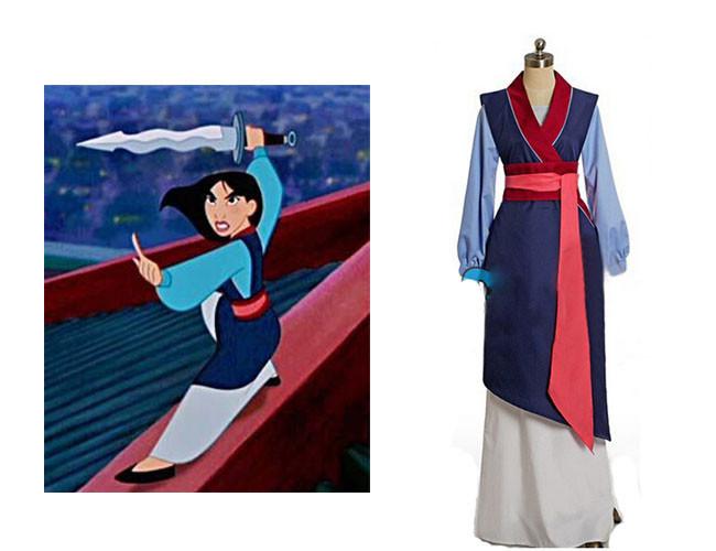 Disfraz de vencedor de vestido Mulan adulto