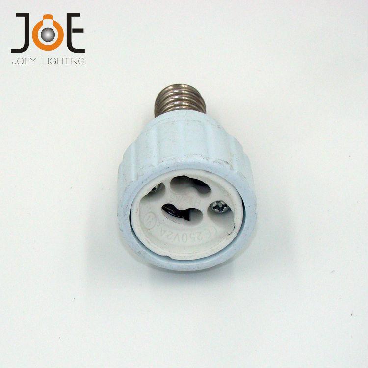 Lamp Holder Converter E14 to GU10 Free shipping 25pcs/lot lamp holder socket base adapter ABS Socket for LED GU10 bulbs Light(China (Mainland))