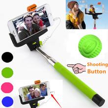 Высокое качество монопод аудио кабель проводной Selfie палка расширяемой пало Sefie монопод для iPhone 6 плюс 5 5S 4S IOS Samsung андроид