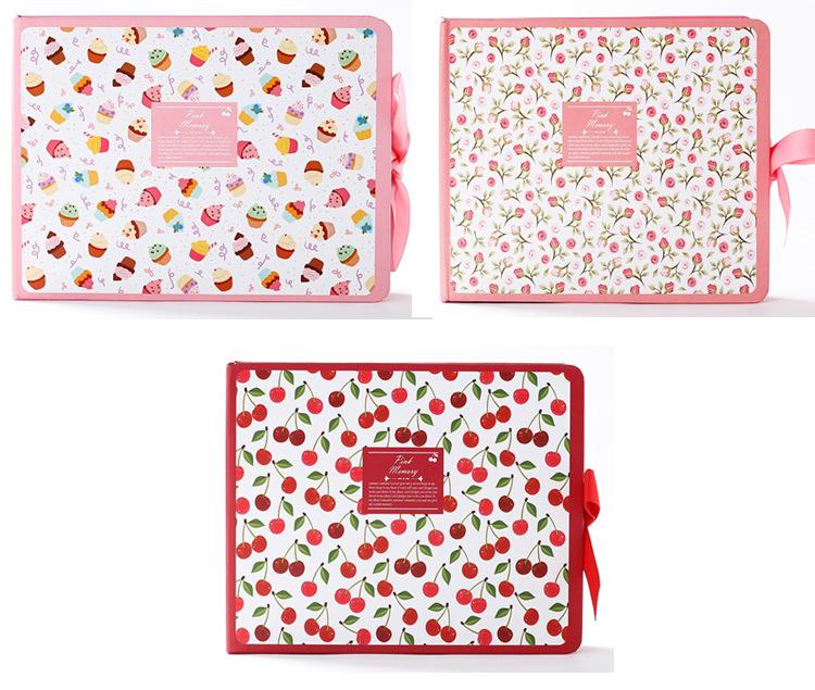 Pink Memory Wedding Photo Album Scrapbook DIY Handmade albuns de fotografia Baby Books Albums for Picture Photos Pink Card Album(China (Mainland))