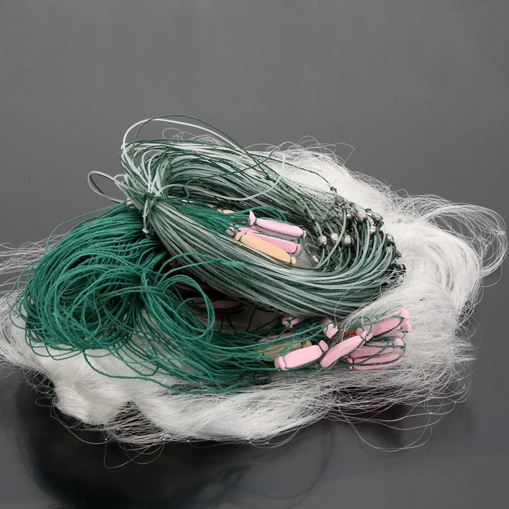 25m 3 Layers Monofilament Gill Fishing Net Fish Net with Float(China (Mainland))