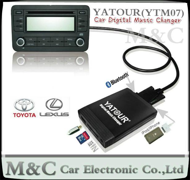 YATOUR YTM07 Car Digital Music CD Changer AUX SD USB MP3 ipod iphone Adapter Toyota/ LEXUS Small 6+6 plug Interfaces/player(China (Mainland))