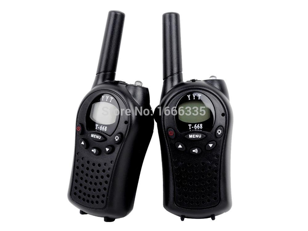 2pcs/lot T-668 Mini Walkie Talkie Pocket LCD Display Two Way Radio Auto Multi Channel Walkie Talkie Handheld Kids Walkie Talkie(China (Mainland))
