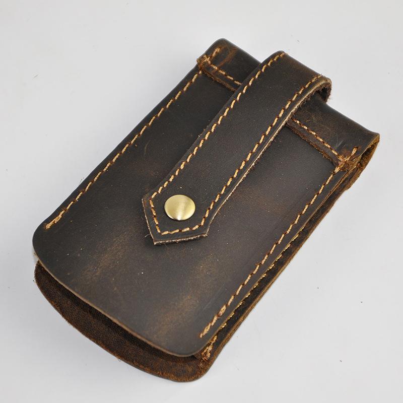 2015 New Vintage Fashion 100 Genuine Crazy Horse Leather Women Men Men s Car Key Wallet