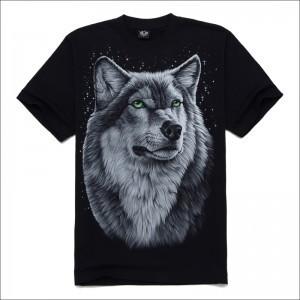2015 New Style Punk Mens T Shirts 3D Printed Wolf Tee Shirt 3D Men's T-shirts Brand New Mens Shirts Wholesale(China (Mainland))