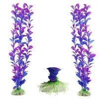 Delicate 2pcs /lot Plastic Aquarium Fish Tank Grass Plants Ornament Decor Hot Selling