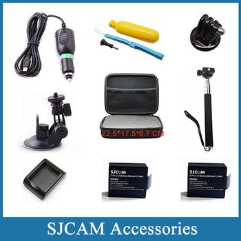 Sj4000 аксессуары EVA сбор Box + монопод + гнездо крепления + плавающей поплавок для sjcam Sj4000 wifi sj5000 плюс спорт камеры