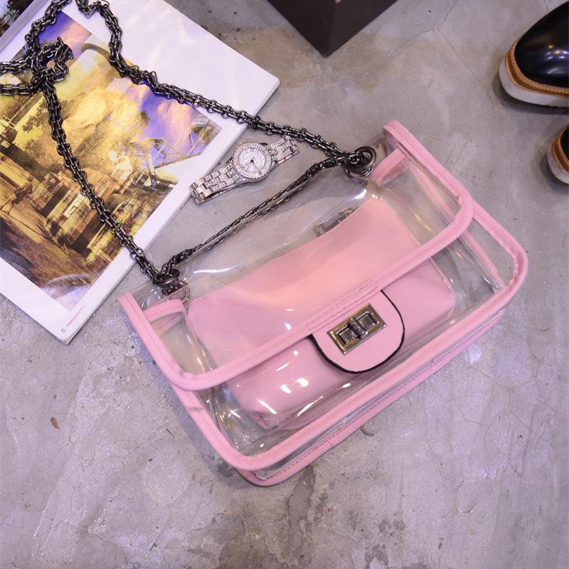 fashion bag 2015 new fashion women ABS single shouder bag clear messenger bag(China (Mainland))