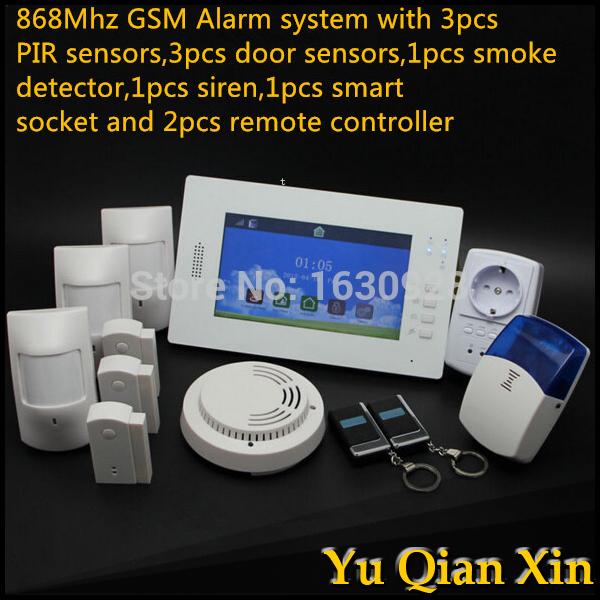 2015 GSM SMS Home Security sistema de alarme Brand New Wireless GSM Alarm System 900 1800 850 1900MHz for Home Security,(China (Mainland))
