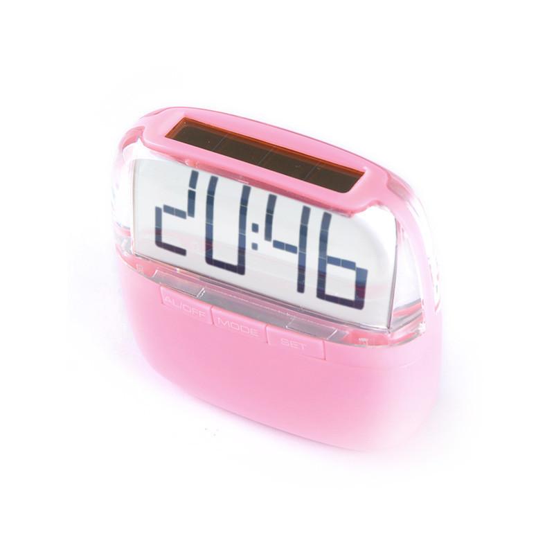 solar power desk clock / crystal desk clock / desk clock with hourly chime(China (Mainland))