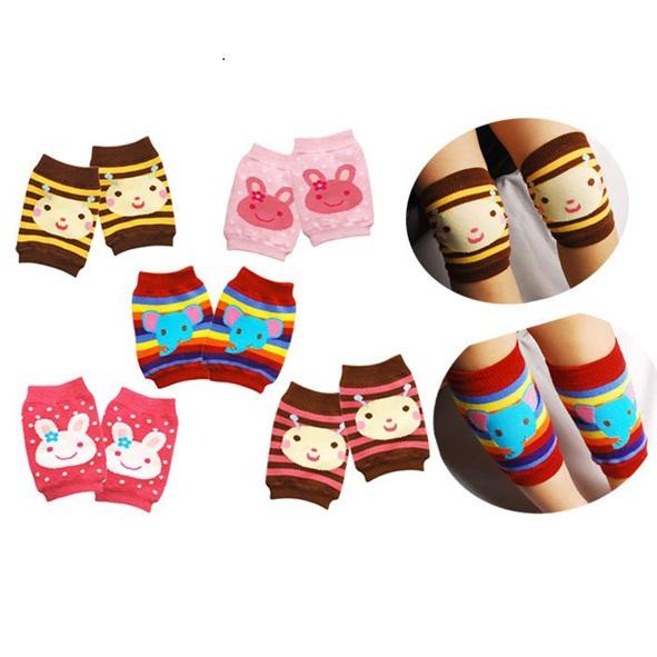 New fashion Lovely baby leg warmer Toddler cartoon knee protector Hot sale Infant safety walking crawling pads 5pcs/set S079(China (Mainland))