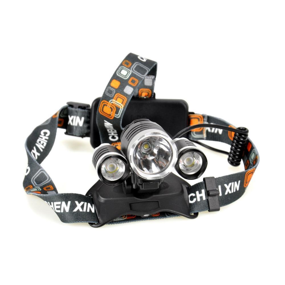 20pcs/lot LED Head Torch 3x CREE XM-L T6 6000 Lumens Rechargeable Headlamp Bicycle headlights Headlight +bag+ frame(China (Mainland))