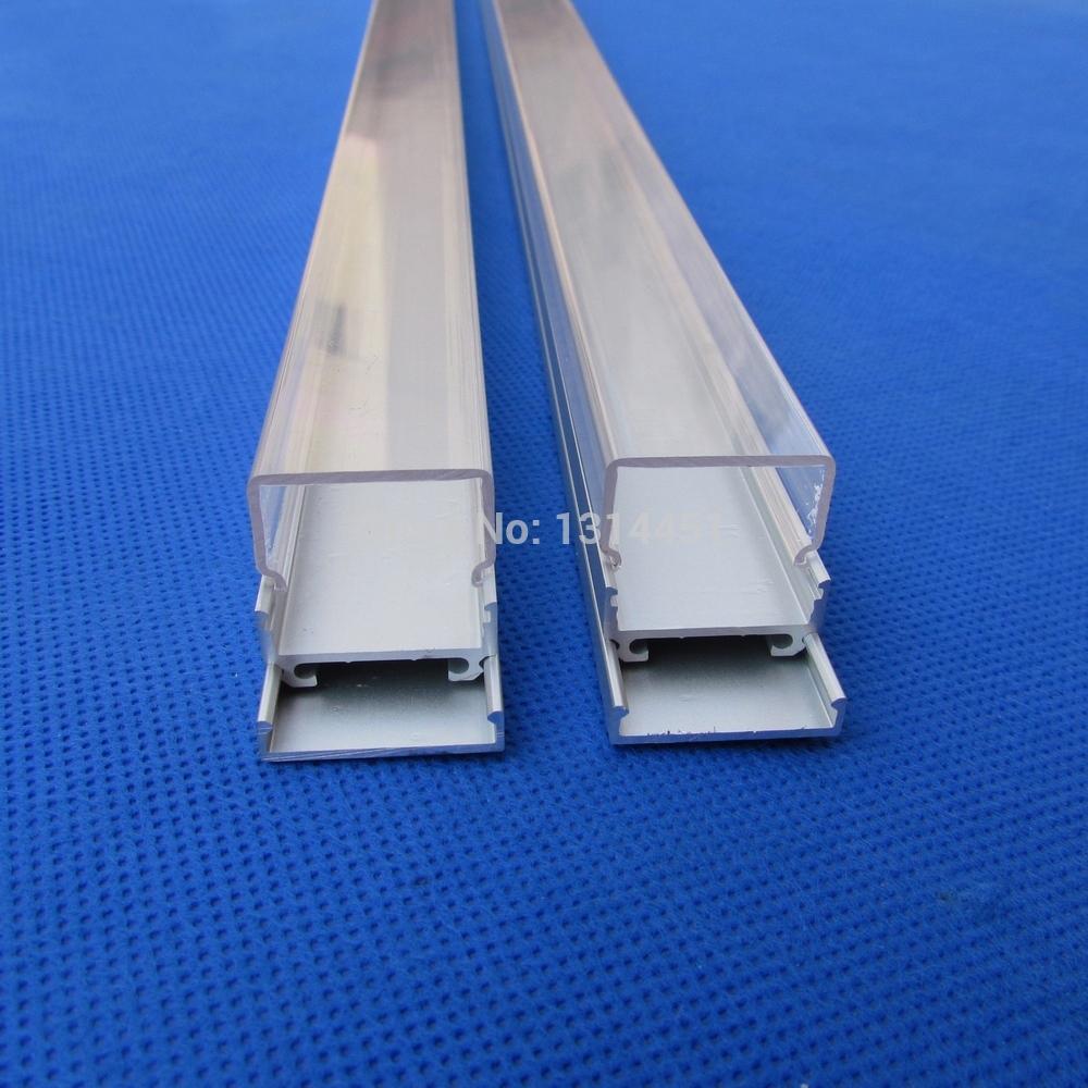 20pcs (40M)/ lot ;2M per piece Square Aluminum led u channel 2020 for led strip light 3528 5050 QC2020-2M(China (Mainland))