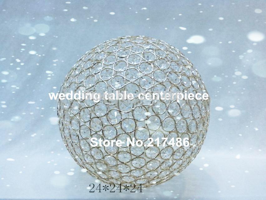 sliver iron chorme platting Crystal globe candles holder , round shape crystal ball(China (Mainland))