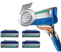 1pcs  5 Blade System Sharpener Shaver Razor Blades for Men Men's razor Portable New wholesale