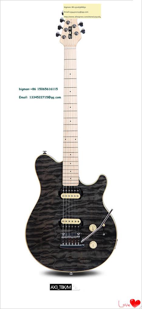 Sterl AX3 TBK M BLARK nature wood electric guitar high quality real photos sun burst 5(China (Mainland))