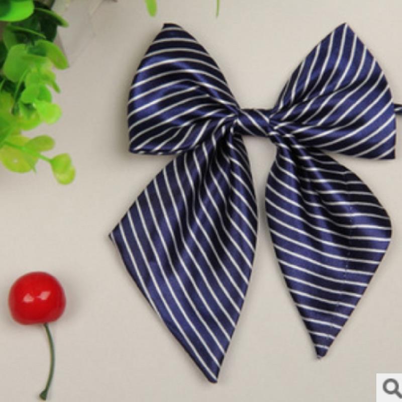 Brand butterfly gravata corbatas Blue White Stewardess Hotel Girls Bow ties LYY4894 mariposas acessorios para mulher marcas(China (Mainland))