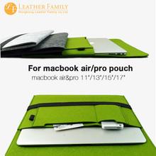"""new Woolen Felt Laptop Case Pouch 11""""11.6""""13""""13.3""""15.4"""" Notebook Ultrabook Sleeve Bag For Macbook Air Pro Gray(China (Mainland))"""