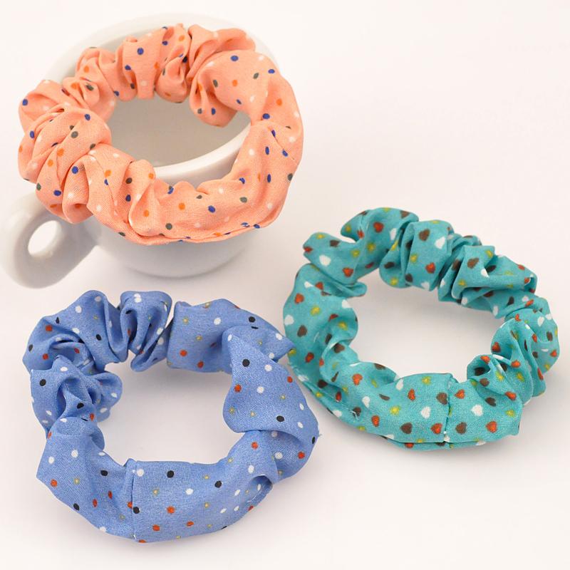 Colorful round dot Headdress Women Hair Accessories Elastic headband sweet baby girl Hair Ban Rubber Hair Rope 1PCS(China (Mainland))