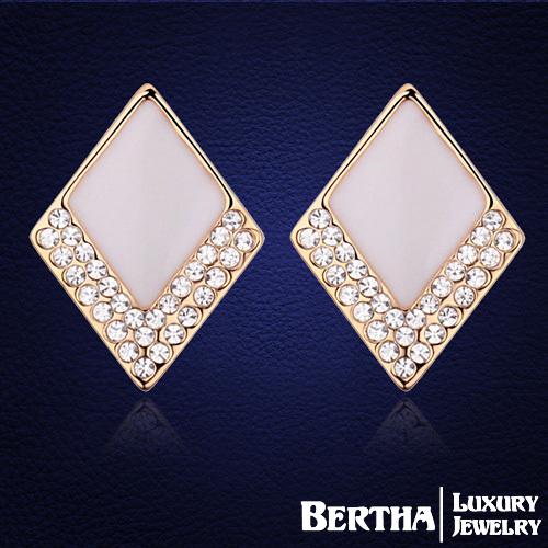 Серьги-гвоздики Bertha Jewelry Swarovski Brincos 18793
