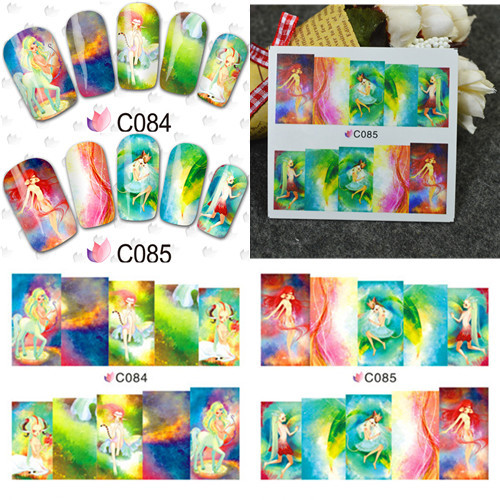 1 sheet Lovely Elves Design Water Transfer Full Cover Decals Nail Wraps Nail Sticker Manicure Decoration Tools #C84-87(China (Mainland))