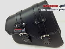 Free shipping motorcycle side bag saddle bag 883 sportster 1200 satchel bag with a black