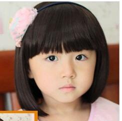 Hairstyles For Short Hair Baby Girl : short hair for baby Girls Sweet wig Children Girls Fashion short ...