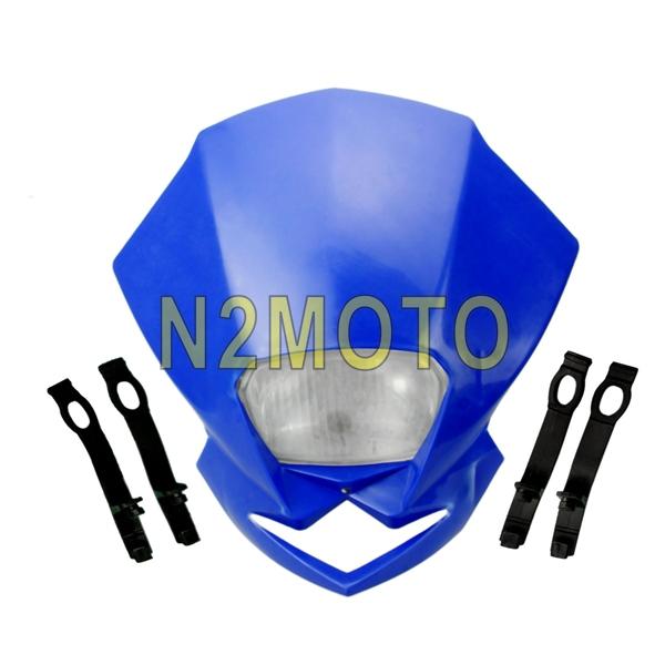 New Motorcycle 12V Street fighter Dirt Bike Head Light Headlight for SR400 XJR 400R YBR Bule Headlamp(China (Mainland))