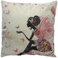 European Vintage Printed Pillow Case Animal Cushion Cotton linen Cover Square 45X45CM
