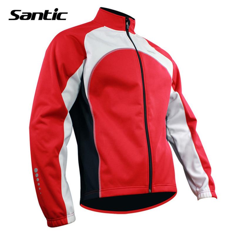 SANTIC Fleece Thermal Long Sleeve Outdoor Jacket Clothing Winter Bicycle Bike Cycling Windproof Jacket Wind Coat Free Shipping(China (Mainland))