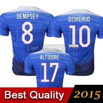 Free shipping Thailand quality Soccer jersey 15 16 DEMPSEY football jerseys DISKERUD jersey 15 16 ALTIDORE football shirt(China (Mainland))
