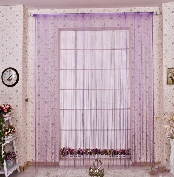 F13215/ F13218 1Pcs Romatic String Curtain Tassels Wear Rod Hanging String Partition Divider Wall Door Curtain(China (Mainland))