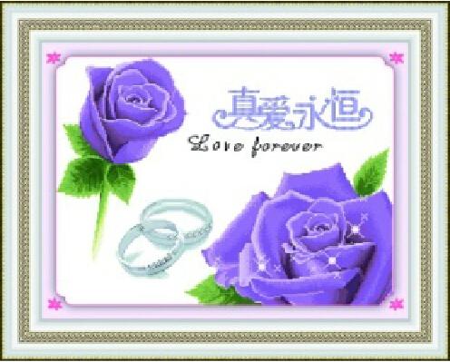 схеме любовь роза вышивка