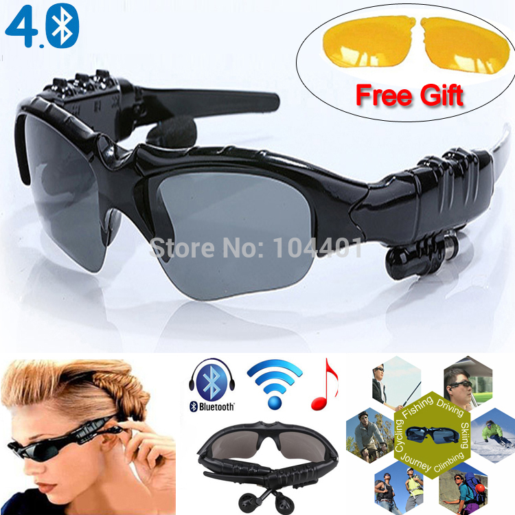 Sports Stereo Wireless Bluetooth 4.0 Headset Telephone Polarized Driving Sunglasses/mp3 Riding Eyes Glasses(China (Mainland))