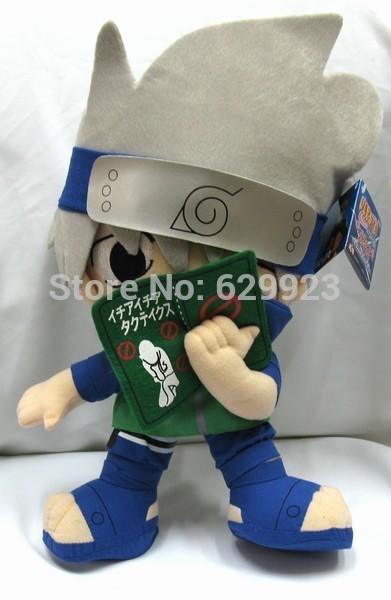 28CM New NARUTO Anime Popular Role Hatake Kakashi Plush Toy PP Cotton Stuffed Hot Sales(China (Mainland))