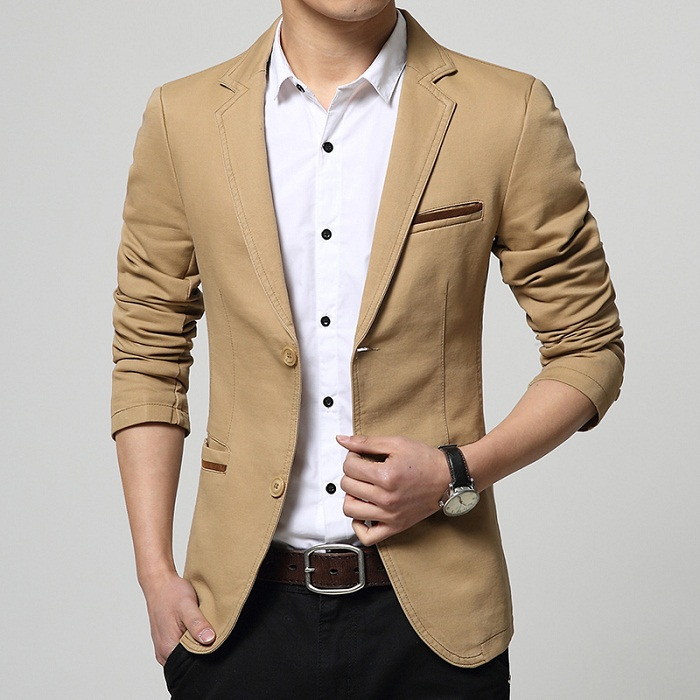 Vestes Blazer Homme de Marque Hommes Blazer Mode Marque