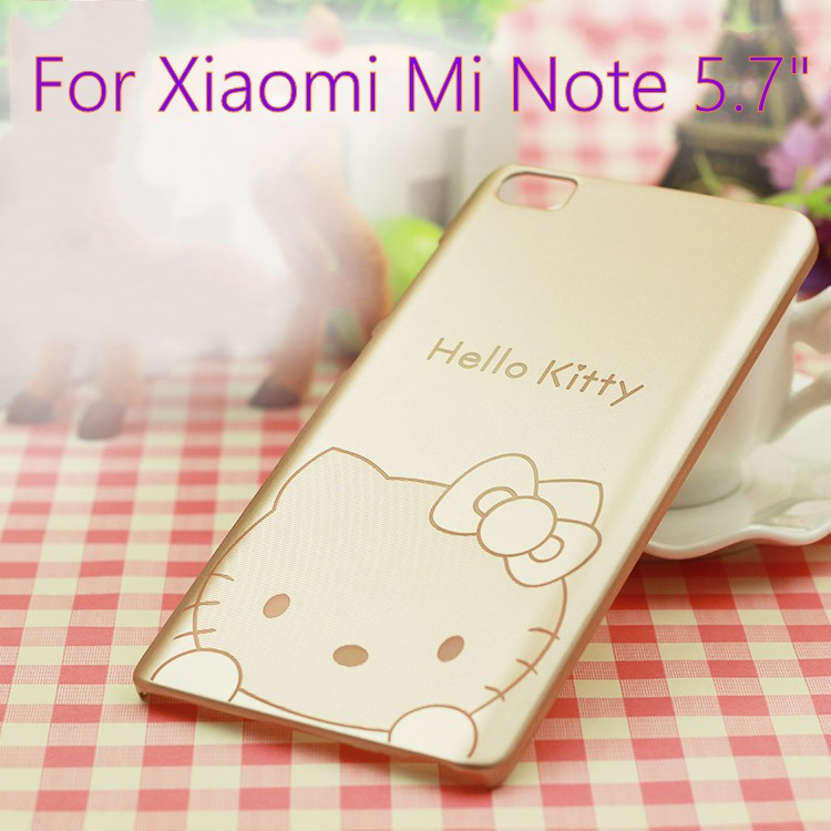 "Xiaomi Mi Note Case 5.7"" Case Ultra Thin Cartoon Kitty Hard Back Cover For Xiaomi Note(China (Mainland))"