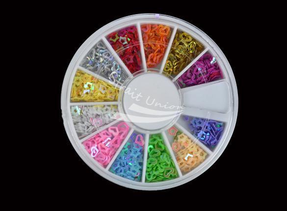 New 12 Colors DIY 3D Mix Flower Fimo Nail Art Tips UV Acrylic Decoration Wheel(China (Mainland))