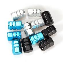 New 4pcs black blue white Car Truck Tire Type Wheel Valve Stem Caps Covers Cars Motorcycles Bike 3colors