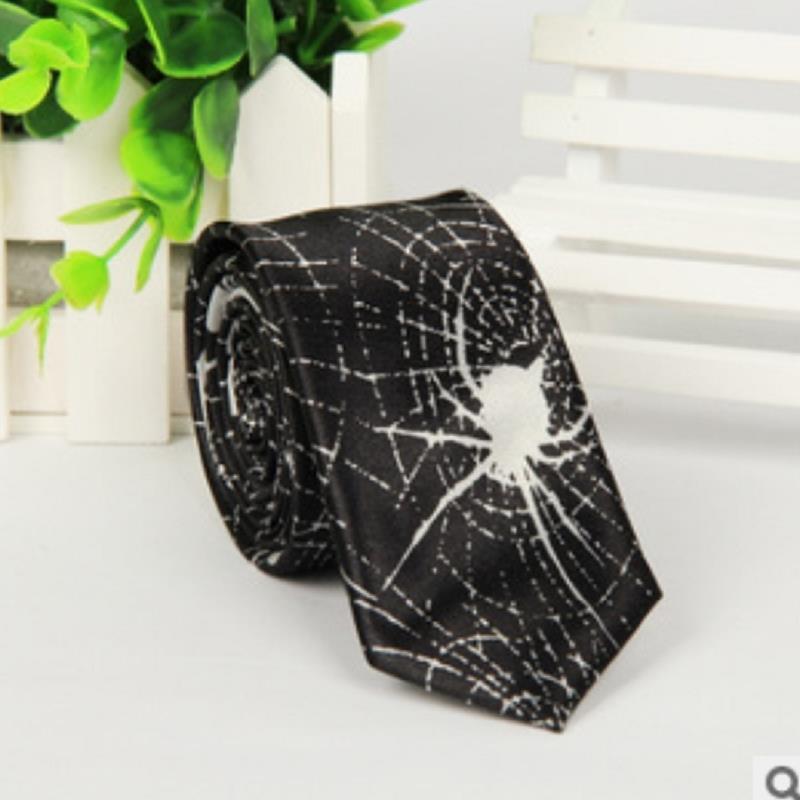 Fashion gravata corbatas noeud papillon Black spiderweb man 5cm Narrow necktie YY4481 wedding dress ties Gift(China (Mainland))