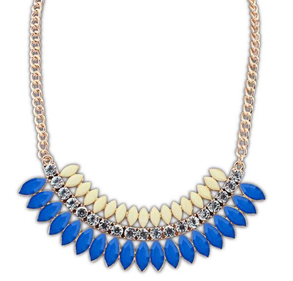 Hot sale Fashion Geometric Imitation Gemstone Jewellery Statement Necklaces Pendants Collier Women Turkish Jewelry Jewelry Gifts(China (Mainland))