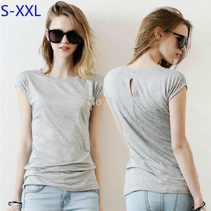 Женская футболка Brand New XXL 2015 T Back hollow out t-shirt женская футболка new stripe top t 2015 o vt237
