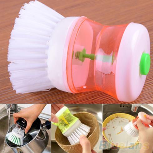 New Kitchen Wash Tool Pot Pan Dish Bowl Palm Brush Scrubber Cleaning Cleaner 1U8G 2UGO(China (Mainland))