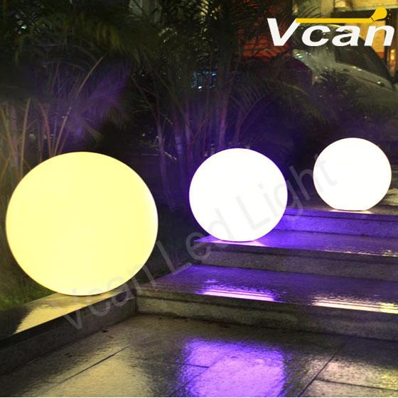 12inch 2PCS 30cm Waterproof IP68 Cordless Garden outdoor globe lights(China (Mainland))