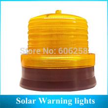 Yellow ,Red, Blue Solar Warning Lights ,Tower ,Traffic LED Strobe light 2PCS Free Shipping(China (Mainland))