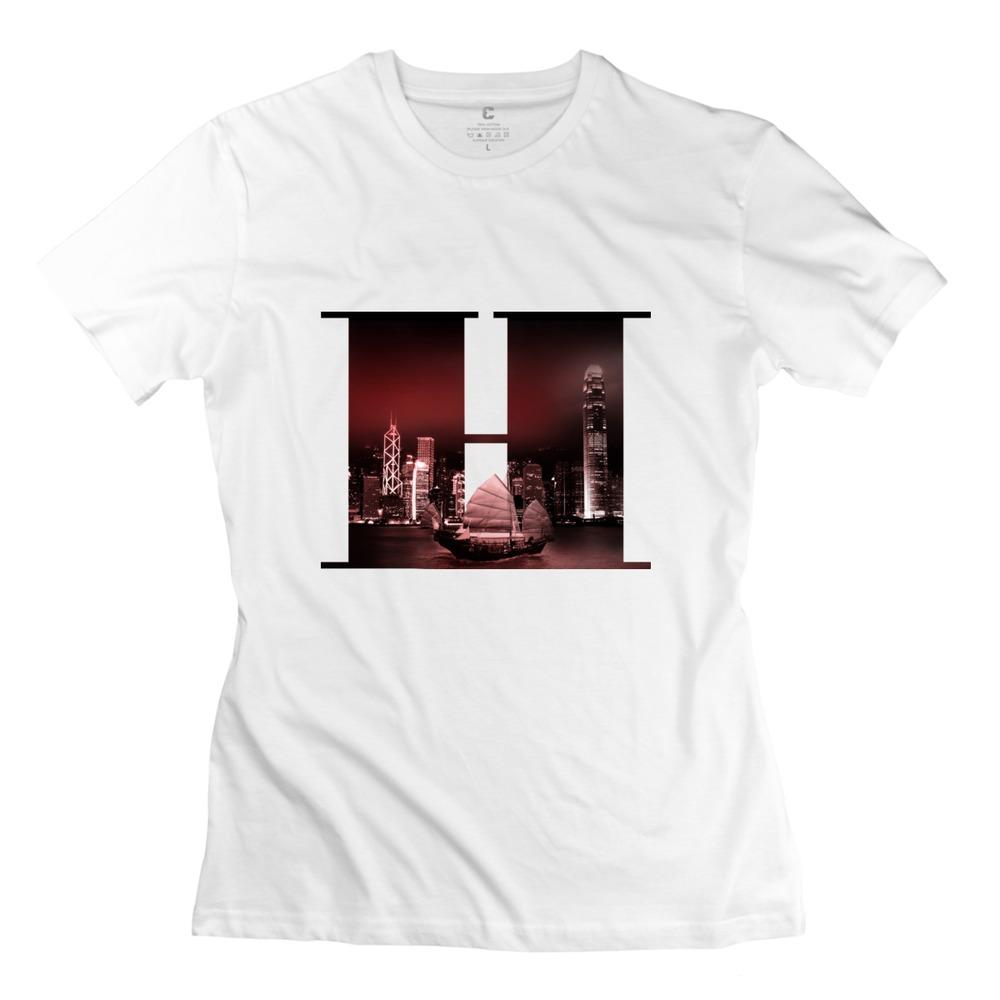 Round Neck Hongkong Women's t shirt for Sale Normal T Shirt for Girl's(China (Mainland))